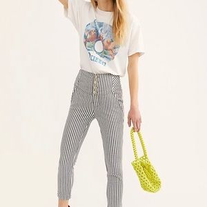 Free People striped trousers